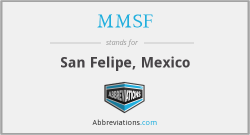 What does MMSF stand for?