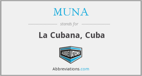 What does MUNA stand for?