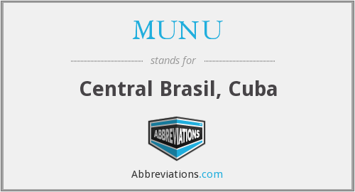 What does MUNU stand for?