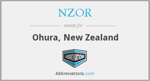 What does NZOR stand for?