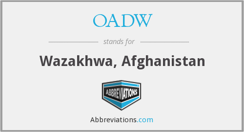 What does OADW stand for?
