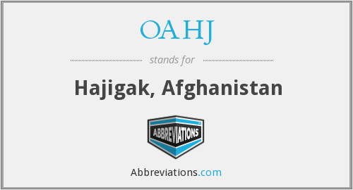What does OAHJ stand for?