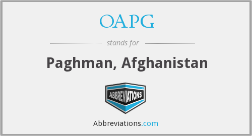 What does OAPG stand for?