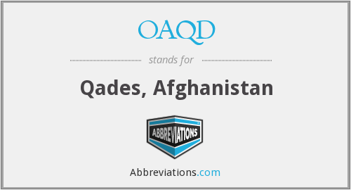 What does OAQD stand for?
