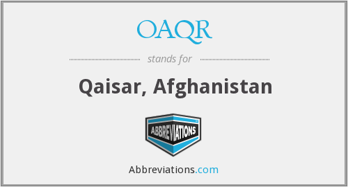 What does OAQR stand for?