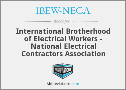 What does IBEW-NECA stand for?