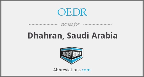What does OEDR stand for?