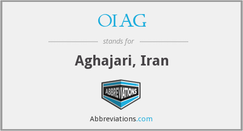 What does OIAG stand for?