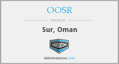 What does OOSR stand for?