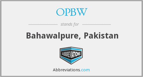 What does OPBW stand for?