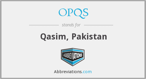 What does OPQS stand for?