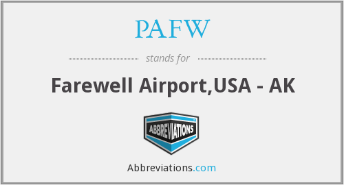 What does PAFW stand for?