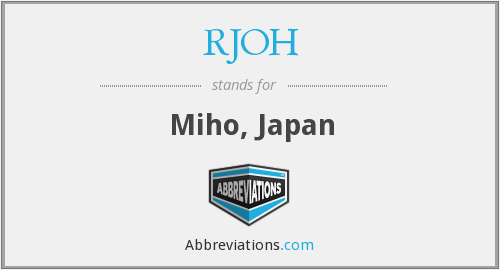 What does RJOH stand for?