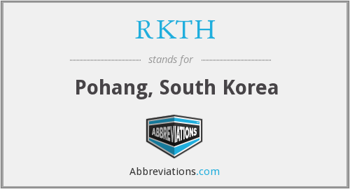 What does RKTH stand for?