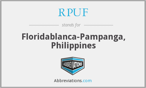 What does RPUF stand for?