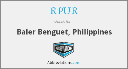 What does RPUR stand for?