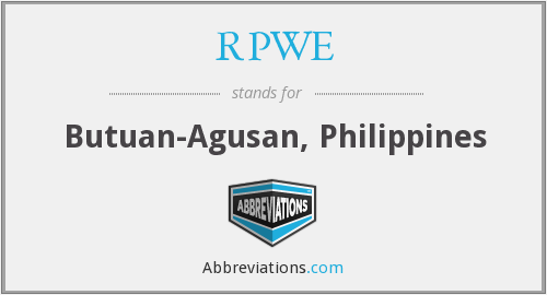 What does RPWE stand for?