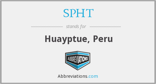 What does SPHT stand for?