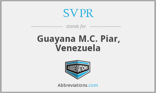 What does SVPR stand for?