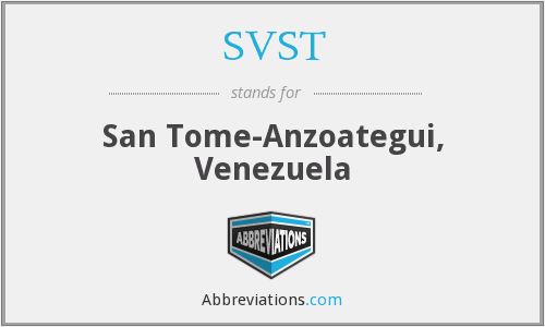 What does SVST stand for?