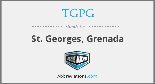 What does TGPG stand for?