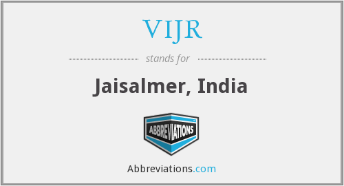 What does VIJR stand for?