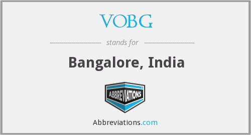 What does VOBG stand for?