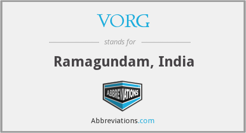 What does VORG stand for?
