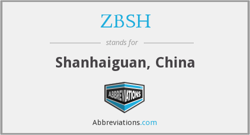 What does ZBSH stand for?