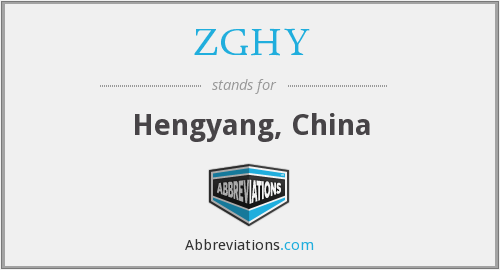 What does ZGHY stand for?