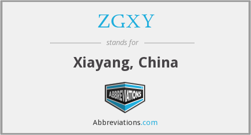 What does ZGXY stand for?