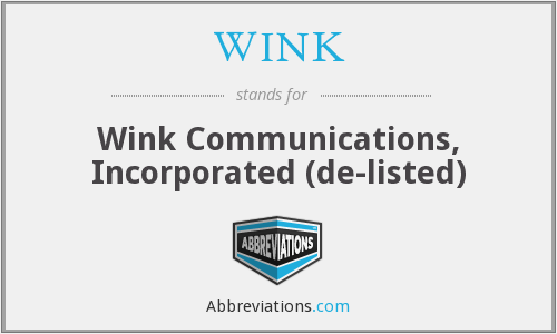 What does WINK stand for?