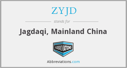 What does ZYJD stand for?