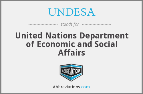 What does UNDESA stand for?
