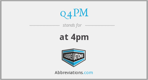 What does Q4PM stand for?