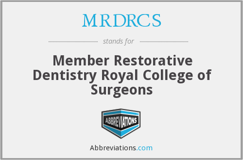What does MRDRCS stand for?