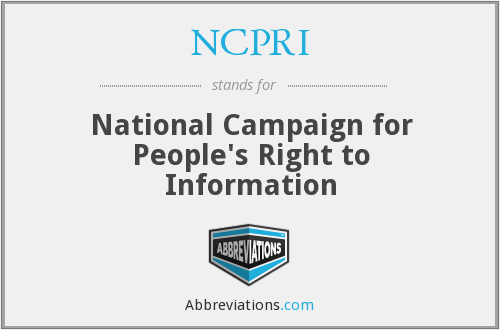 What does NCPRI stand for?