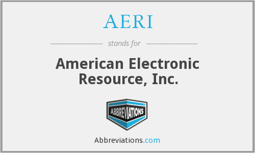 What does AERI stand for?