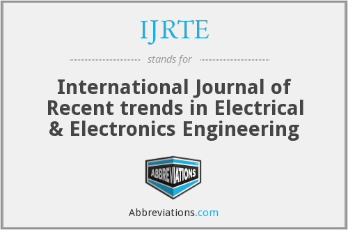 What does IJRTE stand for?