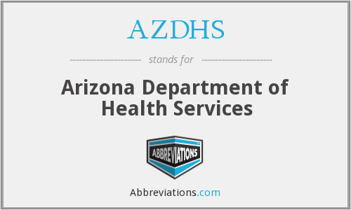 What does AZDHS stand for?