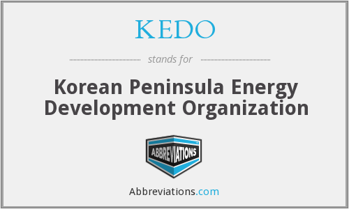 What does KEDO stand for?