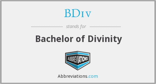 What does BDIV stand for?