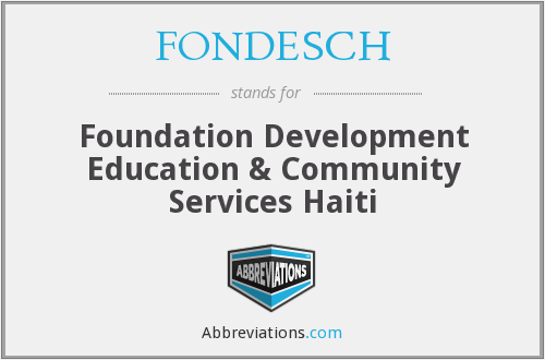 What does FONDESCH stand for?