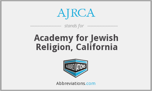 What does AJRCA stand for?