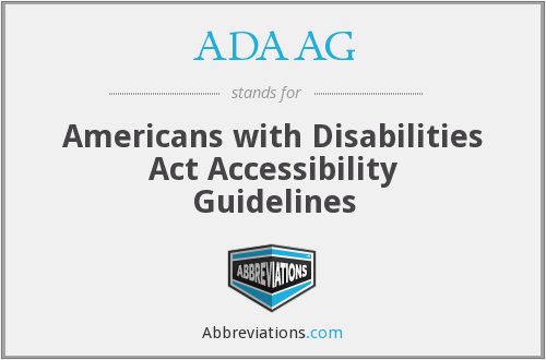 What does ADAAG stand for?