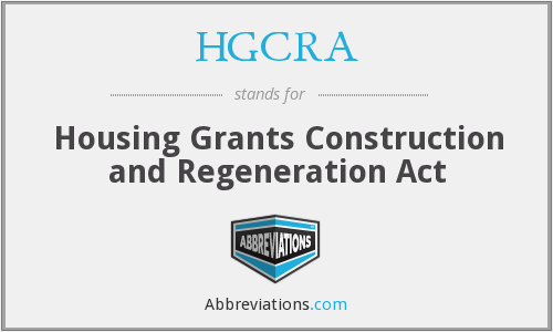 What does HGCRA stand for?