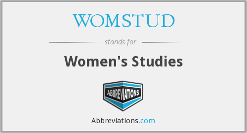 What does WOMSTUD stand for?