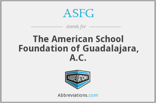 What does ASFG stand for?