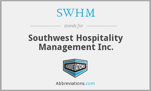 What does SWHM stand for?