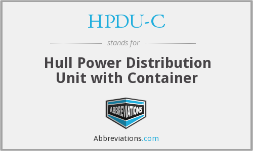 What does HPDU-C stand for?